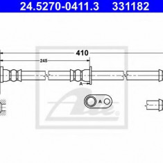 Furtun frana REINZ HONDA CR-V Mk III 2.4 i-VTEC 4WD - ATE 24.5270-0411.3
