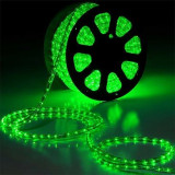 Rola furtun luminos LED VERDE 100m + alimentator inclus / Rola Led