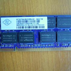 Memorie RAM laptop Sodimm 2 Gb DDR2 Nanya NT2GT64U8HD0BN-AD Transport gratuit!, 800 mhz