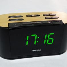 Aparat radio Philips digital cu ceas si alarma la cutie - aproape nou, 0-40 W
