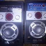 Boxe audio active karaoke cu microfon cu card si usb set 2 bucati