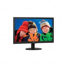 Monitor LED Philips 243V5LHAB/00, 23.6 inch, 1920x1080, 5ms, VGA, DVI, HDMI, Boxe integrate, Negru