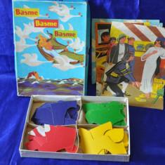 Basme in bucatele - Joc puzzle romanesc. Anul 1976. INCOMPLET! - Jocuri Forme si culori