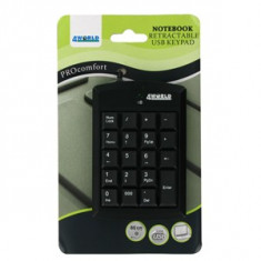Tastatura 4World numerica 4World USB Super mini cu cablu retractabil