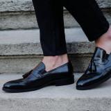 Pantofi Exclusive Loafer COD: TOP-2.NEW COLLECTION - Pantofi barbati, Marime: 38, 39, 40, 41, 42, 44, Culoare: Negru, Piele naturala