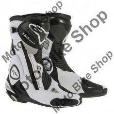 MBS Cizme Alpinestars Racing SMX PLUS, negru-alb, 46, Cod Produs: 22210151246AU - Cizme barbati