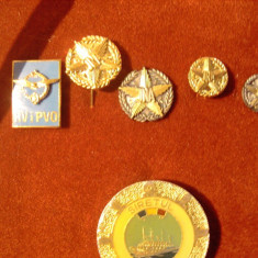 Set 5 insigne militare Yugoslavia-JNA in cutia originala - Insigna, Europa