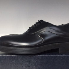Pantofi PRADA, barbatesti, Made in Italy, negri - Pantofi barbati Prada, Marime: 43, Culoare: Negru