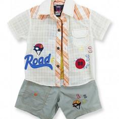 Compleu - pantaloni, camasa si tricou - Road 1, 2, 3 - Haine bebelusi
