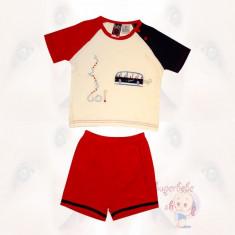 Costum - pantaloni scurti rosii si tricou - 1... 2... 3... Go - Haine bebelusi