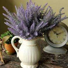 Lavanda artificiala, Buchet levantica plastic, Flori artificiale calitate