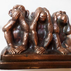 statueta 3 maimute metal