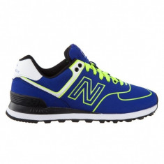 NEW BALANCE 574 BLUE/NEON - Adidasi barbati New Balance, Marime: 37, 41