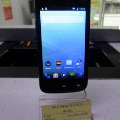Allview a5duo(lct) - Telefon Allview, Negru, 8GB, Neblocat, Quad core, 1 GB