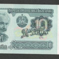 BULGARIA 10 LEVA 1974 [1] P-96a, XF+ - bancnota europa