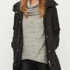 Jacheta lunga matlasata Vero Moda - 10157839 negru - Geaca dama Vero Moda, Marime: XS, S, M, L