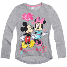 Bluza fete 2-8 ani - Minnie - art. 152496 gri melange, Marime: Alta