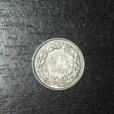 Moneda argint 1/2 franci Elvetia 1959, Europa