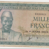 GUINEEA GUINEA 1000 francs 1960 F - bancnota africa