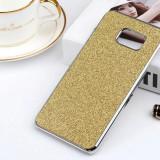 Husa Shiny Chrome pentru Samsung S7 Edge - Husa Telefon, Samsung Galaxy S7 Edge, Auriu