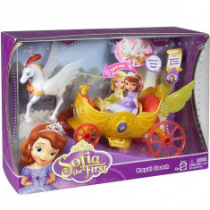 Printesa Sofia Intai Trasura regala Y6652 Mattel - Papusa