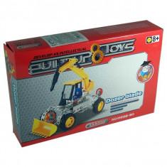 Set constructii metalice Dozer Blade Buldozer cu picamer - Jocuri Seturi constructie