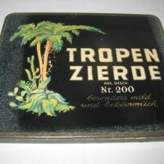 Cutie Tigarete metal veche Tropen Zierde Germany.