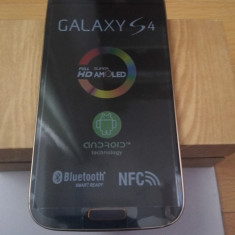 Samsung Galaxy S4 i9500 negru cu rama bronze - Telefon mobil Samsung Galaxy S4, 16GB, Neblocat, Single SIM
