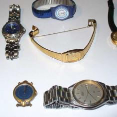 Pachet 9 ceasuri: Fossil, Seiko, Festina, Q&Q.