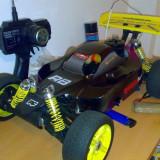 Automodel nitro motor 3.5cc 1/8 27 mhz, culoare neagra 4WD