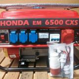 Generator de curent Honda, 6,5 kw, 220v si 380v, benzina + GPL, NOU, transp grat