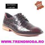 "Pantofi barbati piele naturala OTTO JONES rosu lac ""croco"" (Marime: 41)"
