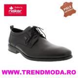 Pantofi barbati piele naturala RIEKER 10620-00 negru (Marime: 40)