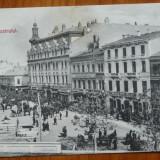 Bucuresti ; Piata Teatrului, inceput de secol 20, impecabila - Carte Postala Muntenia pana la 1904, Necirculata, Printata