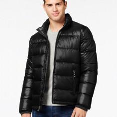 Geaca GUESS Basic Puffer Jacket BLACK masura M L - Geaca barbati Guess, Culoare: Negru