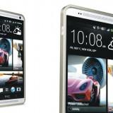 Husa bumper metal auriu deschis (MHC) pentru telefon HTC One