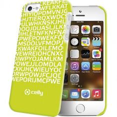 Husa Protectie Spate Celly Clove185Gr Hidden Message verde pentru Apple iPhone 5 / 5S - Husa Telefon Celly, iPhone 5/5S/SE