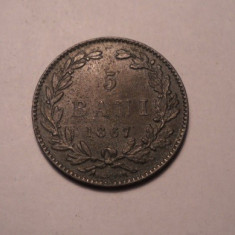 5 bani 1867 Heaton - Moneda Romania
