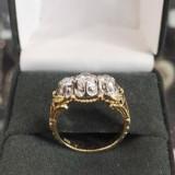 Inel aur/platina si diamante - Inel diamant, Carataj aur: 14k, Culoare: Galben