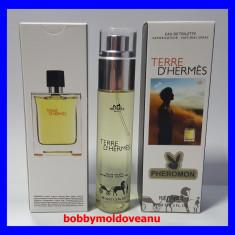 FIOLA PARFUM BARBAT PHEROMON HERMES TERRE D'HERMES 45ML - Parfum barbati Hermes, Apa de toaleta