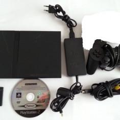 PlayStation 2 Sony Slim maneta joc original CARS card 8MB alimentator cablu tv PS2
