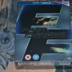 Film - Fast & Furious 7 Movie Collection [7 Discuri Blu-Ray] Release UK Original - Film actiune universal pictures, Engleza