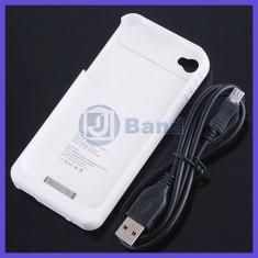 Husa cu baterie externa, pentru IPHONE 4 ! Incarcator PORTABIL !!, iPhone 4/4S