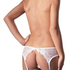 Dres Portjartier Set Alb - Lenjerie sexy femei