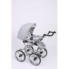 Carucior 2 in 1 Whicker Classic Color 1 Baby-Merc - Carucior copii 2 in 1 Baby-Merc, Alb