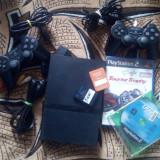 PlayStation 2 Sony slim Modat cu 2 controlere, 2 carduri si jocuri