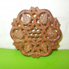 Superb SUPORT SCULPTAT manual in LEMN de TRANDAFIR / Sculptura