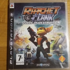 PS3 Ratchet & Clank Tools of destruction - joc original by WADDER - Jocuri PS3 Sony, Actiune, 12+, Single player