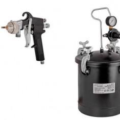 089915-Pistol de vopsit Raider Power Tools pneumatic cu rezervor sub presiune 10 L Raider