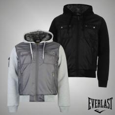 Nou! Geaca iarna Barbati Everlast Lined originala - marimea S M L XL XXL XXXL - Geaca barbati, Culoare: Gri, Negru